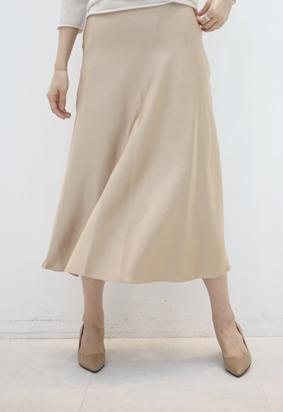 Ballet satin skirts (beige)