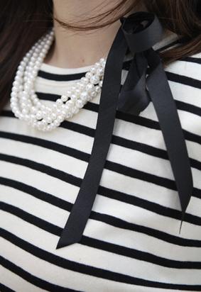 Ribbon pearl N (2color)