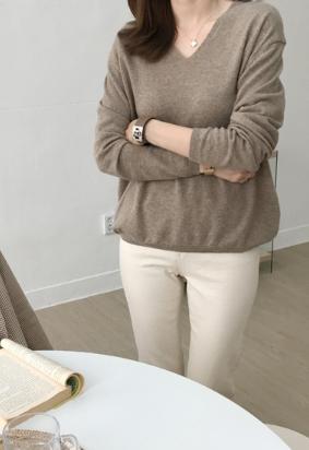 [Cashmere] Loving V knit (4color)