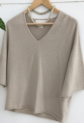 [Cashmere] Twinkle V knit (2color)