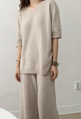 [Cashmere] Louis v knit (2color)