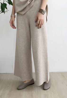 [Cache] [band] Louis knit pants (2color)