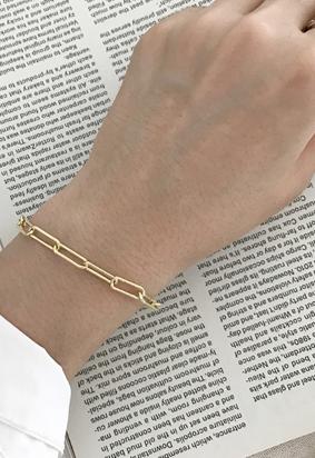 [925Silver] Gold chain B
