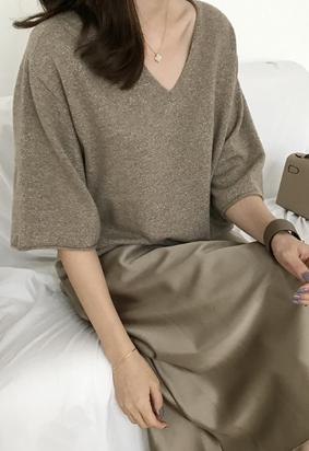 Twinkle V knit (brown)