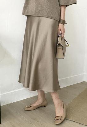 Ballet satin skirt (brown)