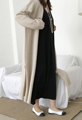 Bound Long Cardigan (oatmeal)
