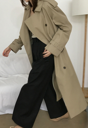(2types) Out Trench coat (2color)