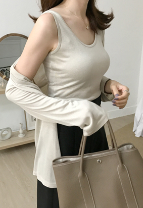 Oliver Sleeveless Top (5color)