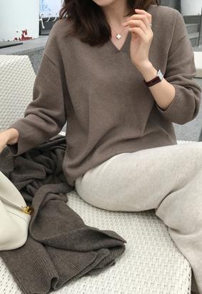 [Wholegarment] Mound V knit (4color)