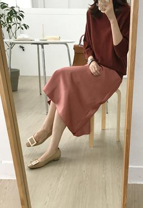 Ballet satin skirts  (orangebrown)