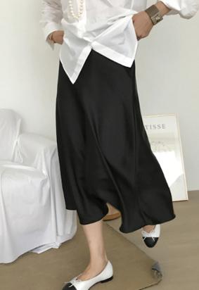 Ballet satin skirts (black)