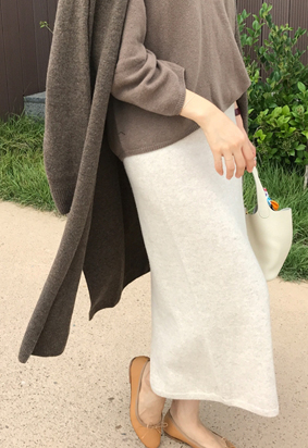 [band] [Cache] prima knit skirt (oatmeal)