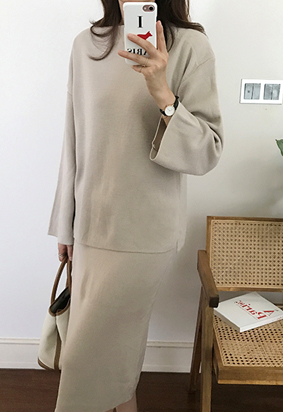 Julie boat neck knit (5color)