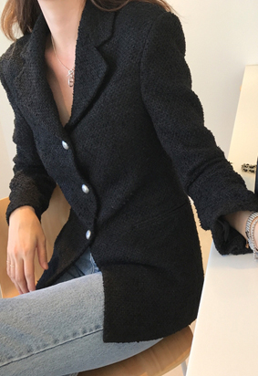 Closer tweed jacket (black)