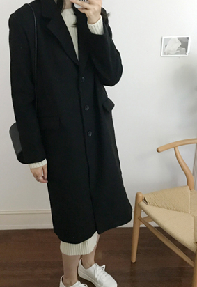 Single breasted coat (2color)