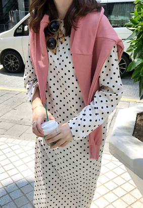 Polka dot dress (2color)
