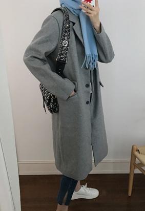 Single breasted coat (gray)