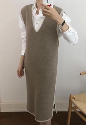 Lyle vest dress (2color)