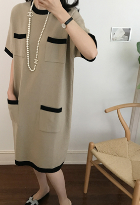 Looks pocket dress (2color)