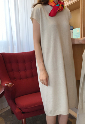[Wholegarment] Keep knit dress (2color)