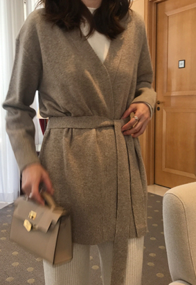 Coax belted cardigan (3color)
