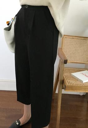 [Back band] Massing tuck pants (2color)