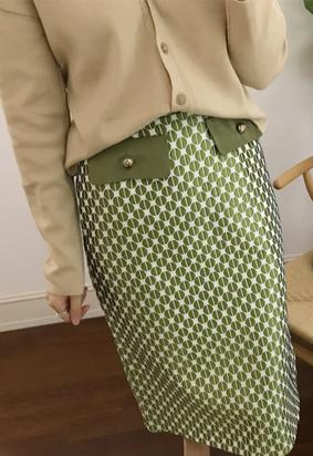 Glossy dot skirts (3color)