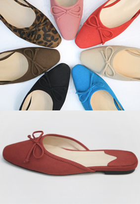 Ribbon flat mule (8color)