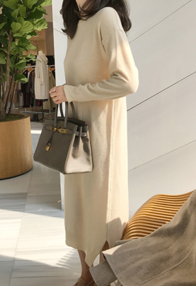 Demi knit dress (4color)