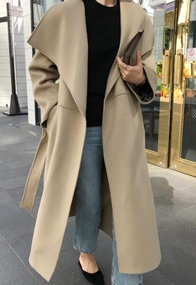 [HandMade] Lapel muffler coat