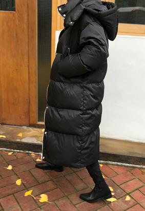 [Goose] Hooded long padding