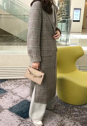 [HandMade][cashmere] Check pick coat