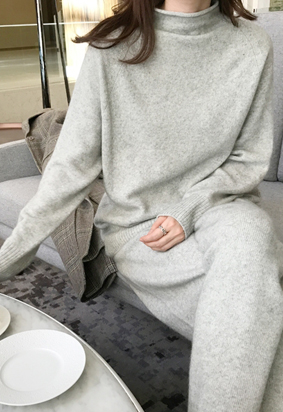 Powdery racoon knit (3color)