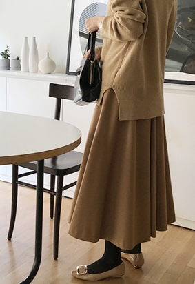 Sway flared skirts (3color)