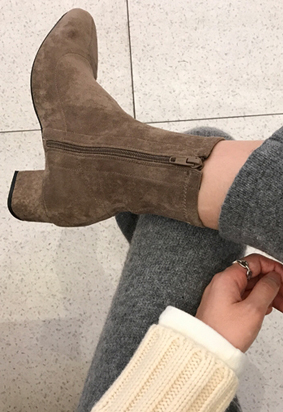 Slim ankle boots (brown)