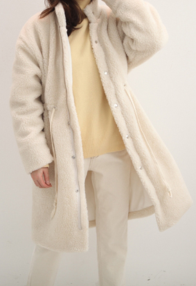 [napping lining] Teddy bear coat (2color)