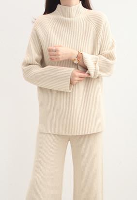 [Wholegarment] Rest high neck knit (3color)