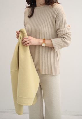 Round ribbing knit (2color)