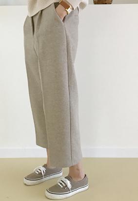 [Back band] Stuff pants (beige)