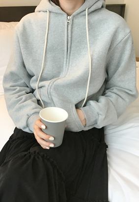 [napping] Cotton hood zip up (3color)