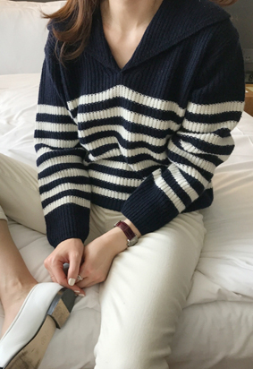 Sailor collar knit (3color)