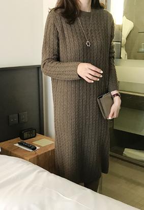 Braid knit dress (2color)