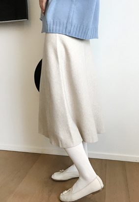 [band] Knit wave skirts (2color)
