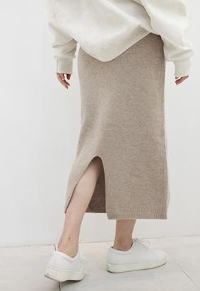 [band] Knit pocket skirts (3color)
