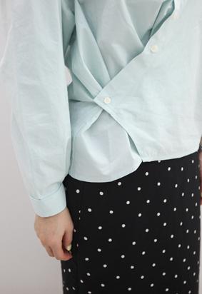Button wrap blouse (3color)