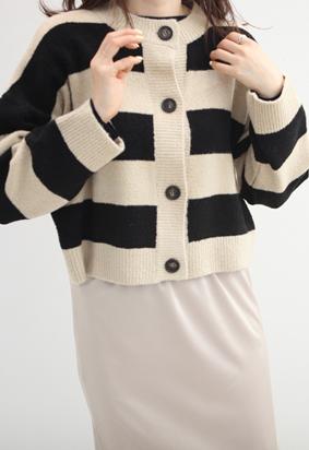 Bubble knit cardigan (2color)