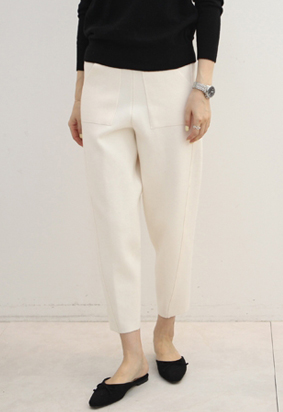 [band] Tapered knit pants (3color)