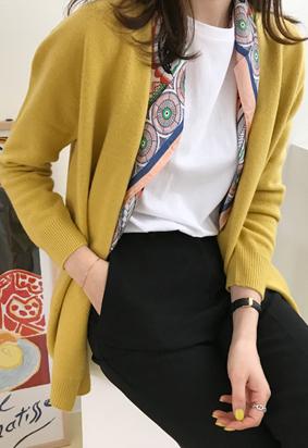 [Wholegarment] Rose cardigan (yellow)