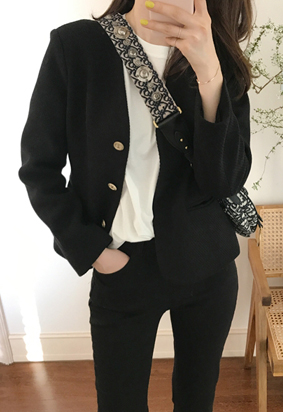 Gold shot jacket (black)