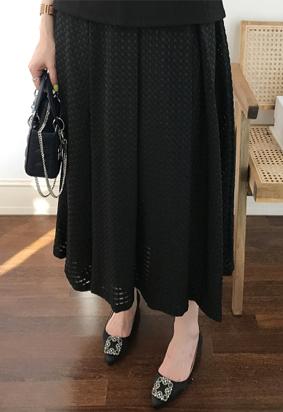Arc maxi skirt (black)